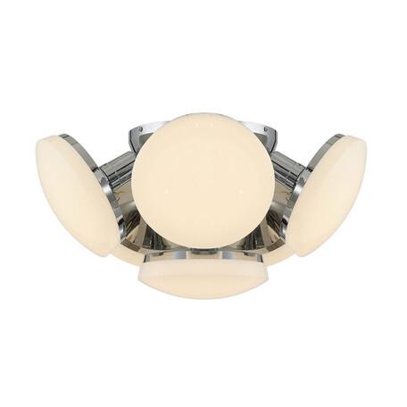 Потолочная светодиодная люстра Citilux Тамбо CL716161Wz, LED 72W 3000K 6000lm, хром, белый, металл, пластик