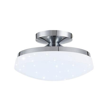 Потолочный светодиодный светильник Citilux Тамбо CL716011Nz, LED 12W 4000K 1000lm, хром, белый, металл, пластик