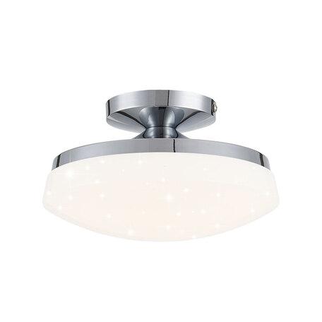 Потолочный светодиодный светильник Citilux Тамбо CL716011Wz, LED 12W 3000K 1000lm, хром, белый, металл, пластик