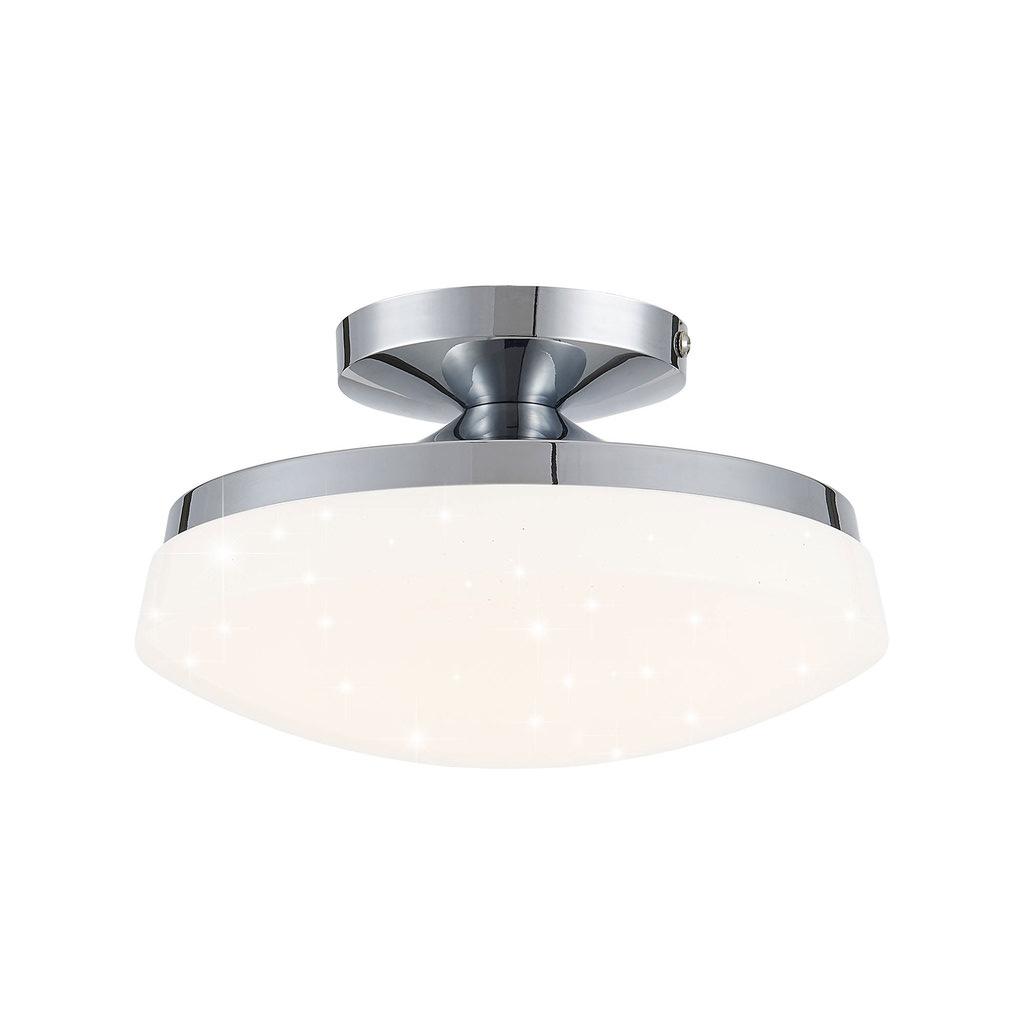 Потолочный светодиодный светильник Citilux Тамбо CL716011Wz, LED 12W 3000K 1000lm, хром, белый, металл, пластик - фото 1