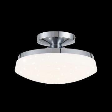 Потолочный светодиодный светильник Citilux Тамбо CL716011Wz, LED 12W 3000K 1000lm, хром, белый, металл, пластик - миниатюра 2