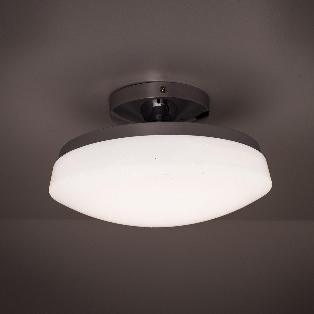 Потолочный светодиодный светильник Citilux Тамбо CL716011Wz, LED 12W 3000K 1000lm, хром, белый, металл, пластик - фото 3