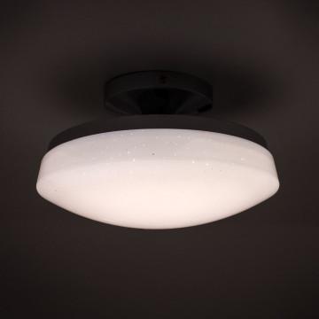 Потолочный светодиодный светильник Citilux Тамбо CL716011Wz, LED 12W 3000K 1000lm, хром, белый, металл, пластик - миниатюра 4