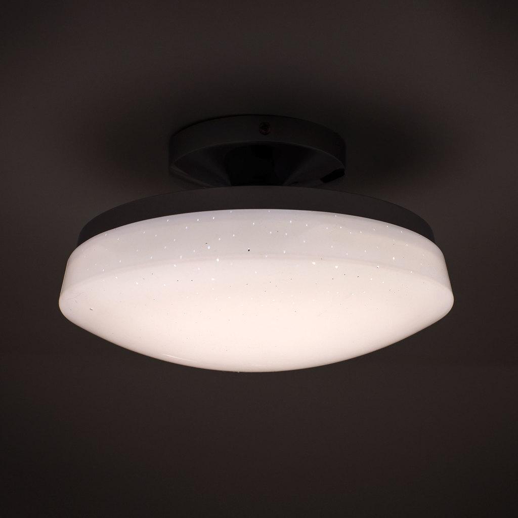 Потолочный светодиодный светильник Citilux Тамбо CL716011Wz, LED 12W 3000K 1000lm, хром, белый, металл, пластик - фото 4
