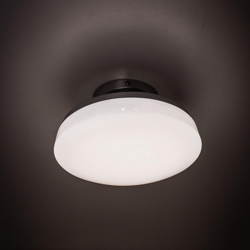 Потолочный светодиодный светильник Citilux Тамбо CL716011Wz, LED 12W 3000K 1000lm, хром, белый, металл, пластик - фото 5