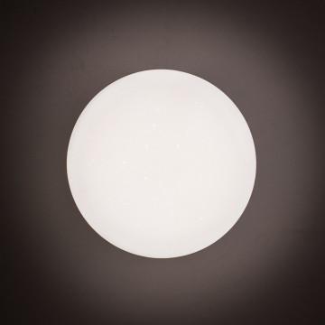 Потолочный светодиодный светильник Citilux Тамбо CL716011Wz, LED 12W 3000K 1000lm, хром, белый, металл, пластик - миниатюра 8