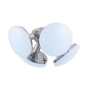 Потолочная люстра Citilux Тамбо CL716141Nz 4000K (дневной), хром, белый, металл, пластик