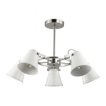 Потолочная люстра с регулировкой направления света Lumion Arudis 3591/5C, 5xE27x60W, никель, белый, металл
