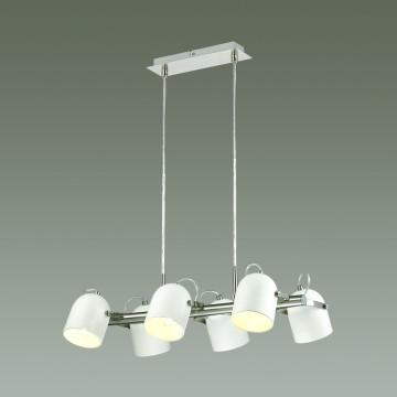 Подвесная люстра с регулировкой направления света Lumion Arudis 3592/6, 6xE27x60W, никель, белый, металл - миниатюра 3
