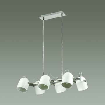 Подвесная люстра с регулировкой направления света Lumion Arudis 3592/6, 6xE27x60W, никель, белый, металл - миниатюра 4
