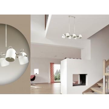 Подвесная люстра с регулировкой направления света Lumion Arudis 3592/6, 6xE27x60W, никель, белый, металл - миниатюра 5