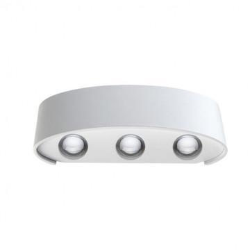 Настенный светодиодный светильник Novotech Calle 357680, IP54, LED 6W 3000K 410lm, белый, металл