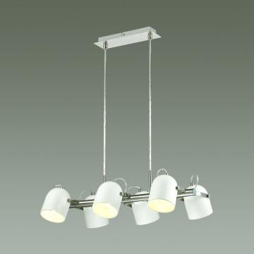 Подвесная люстра с регулировкой направления света Lumion Arudis 3592/6, 6xE27x60W, никель, белый - миниатюра 3