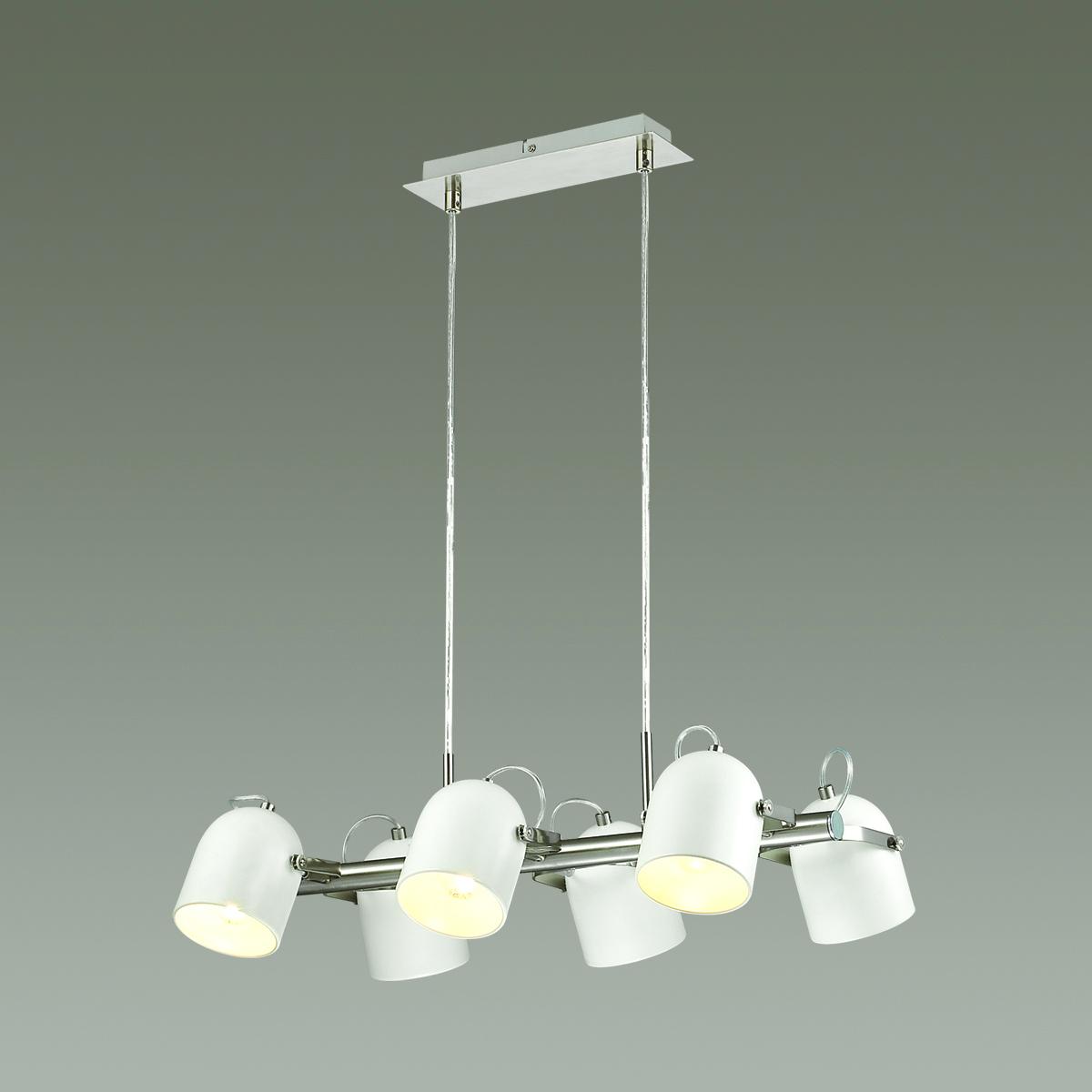 Подвесная люстра с регулировкой направления света Lumion Arudis 3592/6, 6xE27x60W, никель, белый - фото 3