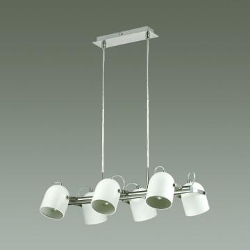 Подвесная люстра с регулировкой направления света Lumion Arudis 3592/6, 6xE27x60W, никель, белый - миниатюра 4