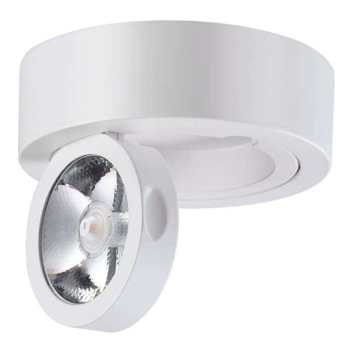 Потолочный светодиодный светильник с регулировкой направления света Novotech Razzo 357704, IP33, LED 10W 3000K 1200lm, белый, металл - фото 2