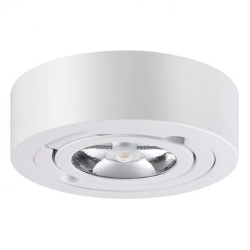 Потолочный светодиодный светильник с регулировкой направления света Novotech Razzo 357704, IP33, LED 10W 3000K 1200lm, белый, металл - миниатюра 3