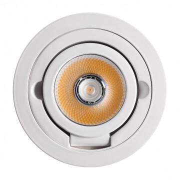 Потолочный светодиодный светильник с регулировкой направления света Novotech Razzo 357704, IP33, LED 10W 3000K 1200lm, белый, металл - миниатюра 4