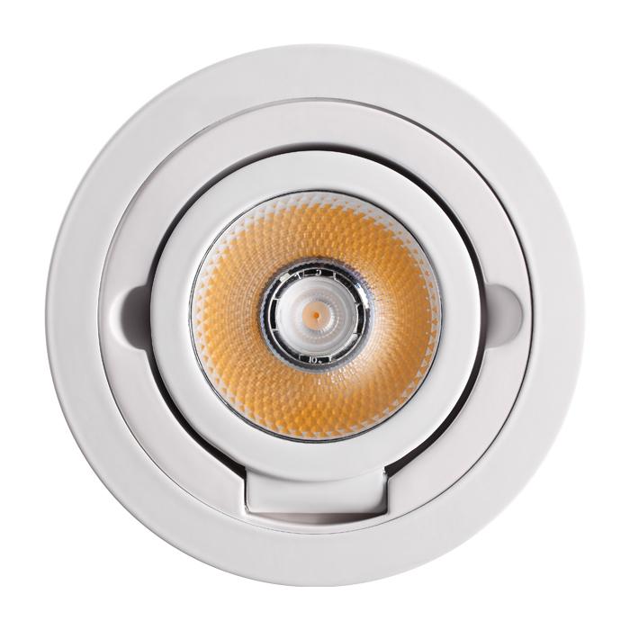 Потолочный светодиодный светильник с регулировкой направления света Novotech Razzo 357704, IP33, LED 10W 3000K 1200lm, белый, металл - фото 4