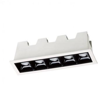 Встраиваемый светодиодный светильник Novotech Antey 357621, LED 10W 3000K 400lm, черный, черно-белый, металл
