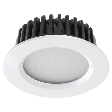 Встраиваемая светодиодная панель Novotech Spot Drum 357600, IP44, LED 10W 3000K 700lm, белый, металл с пластиком