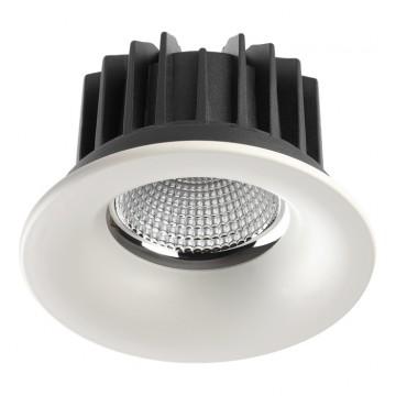 Встраиваемый светодиодный светильник Novotech Drum 357602, IP44 3000K (теплый), белый, хром, металл