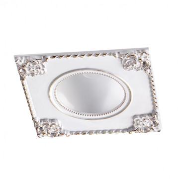 Встраиваемый светодиодный светильник Novotech Spot Novel 357613, LED 7W 3000K 420lm, белый с золотом, золото с белым, металл
