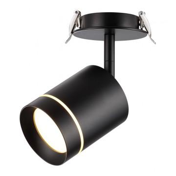 Встраиваемый светодиодный светильник с регулировкой направления света Novotech Arum 357688 3000K (теплый), черный, металл, пластик