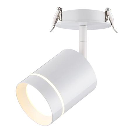Встраиваемый светодиодный светильник с регулировкой направления света Novotech Spot Arum 357687, LED 9W 3000K 405lm, белый, металл, пластик