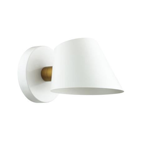 Бра Lumion Moderni Kenia 4465/1W, 1xE14x60W, белый с золотом, матовое золото с белым, белый, металл