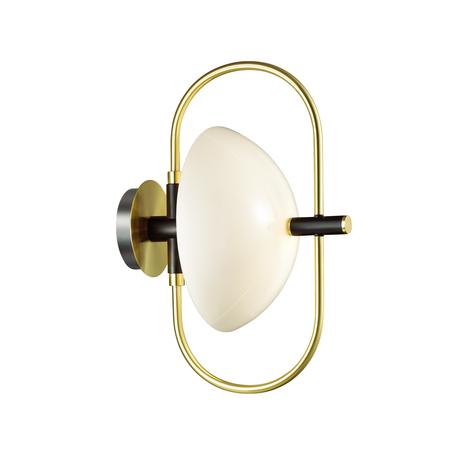 Настенный светильник Odeon Light Hall Granta 4674/1W, 1xE14x40W, матовое золото, белый, металл, стекло