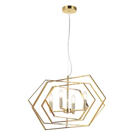 Подвесная люстра Odeon Light Modern Stola 4663/4, 4xE14x40W, золото, металл