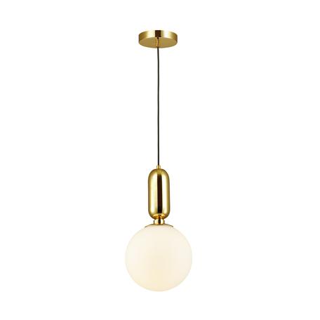 Подвесной светильник Odeon Light Pendant Okia 4669/1, 1xE27x40W, золото, белый, металл, стекло