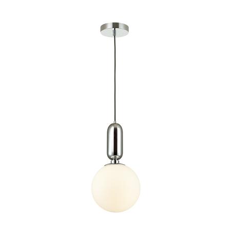 Подвесной светильник Odeon Light Pendant Okia 4670/1, 1xE27x40W, хром, белый, металл, стекло
