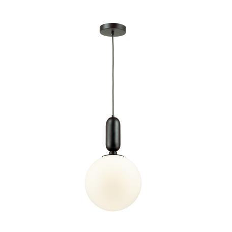 Подвесной светильник Odeon Light Pendant Okia 4671/1, 1xE27x40W, черный, белый, металл, стекло