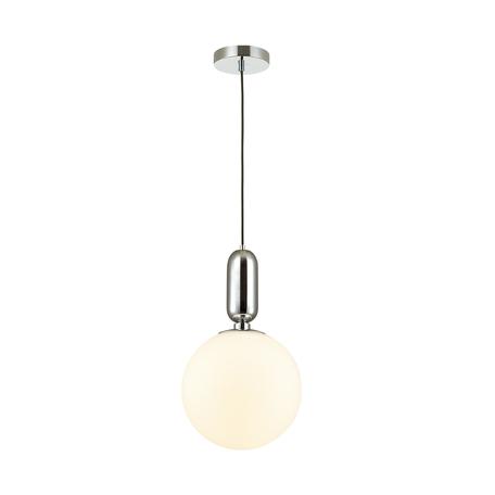 Подвесной светильник Odeon Light Pendant Okia 4673/1, 1xE27x40W, хром, белый, металл, стекло