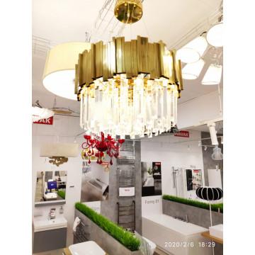 Подвесной светильник LUSTRAM CH301-8-BRS, 8xE14x25W золото, хрусталь - миниатюра 3