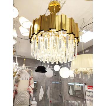 Подвесной светильник LUSTRAM CH301-8-BRS, 8xE14x25W золото, хрусталь - миниатюра 4