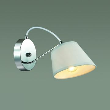 Бра Lumion Vasana 3518/1W, 1xE27x40W, хром, серый, металл, текстиль - миниатюра 3