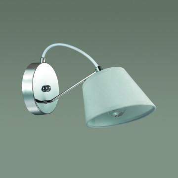 Бра Lumion Vasana 3518/1W, 1xE27x40W, хром, серый, металл, текстиль - миниатюра 4