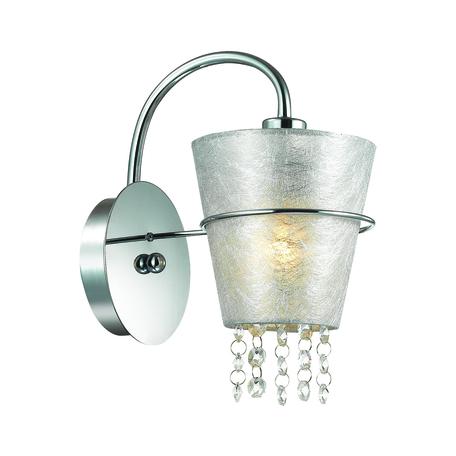Бра Lumion Buonaprana 3520/1W, 1xE14x40W, хром, серебро, прозрачный, металл, текстиль, хрусталь