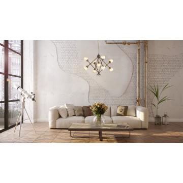 Подвесная люстра Lumion Zianox 3596/9, 9xG9x25W, бронза, янтарь, металл, стекло - миниатюра 4