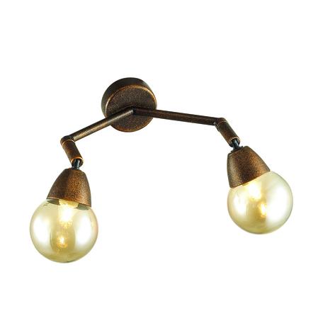 Настенный светильник с регулировкой направления света Lumion Lofti Zianox 3596/2W, 2xG9x25W, бронза, янтарь, металл, стекло