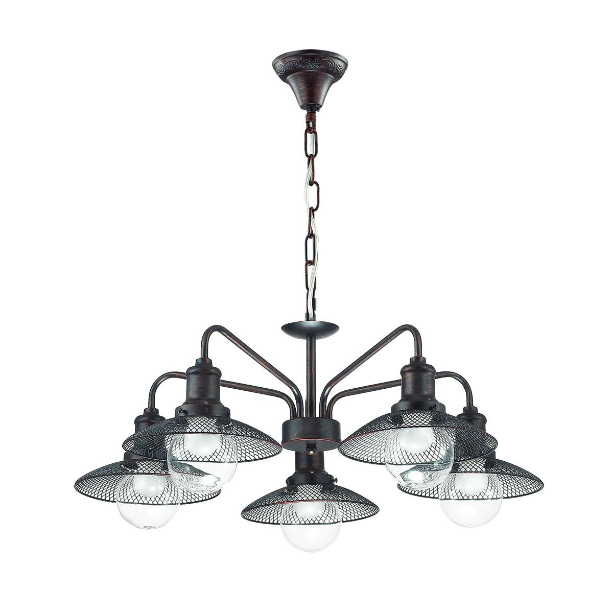 Подвесная люстра Lumion Ludacris 3513/5, 5xE27x60W, коричневый, прозрачный, металл, стекло - фото 2