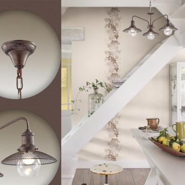 Подвесная люстра Lumion Ludacris 3513/5, 5xE27x60W, коричневый, прозрачный, металл, стекло - миниатюра 5