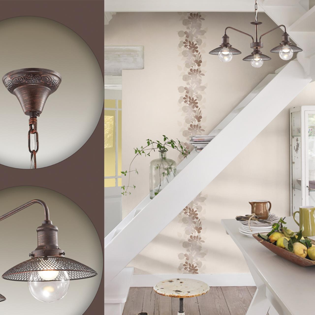 Подвесная люстра Lumion Ludacris 3513/5, 5xE27x60W, коричневый, прозрачный, металл, стекло - фото 5
