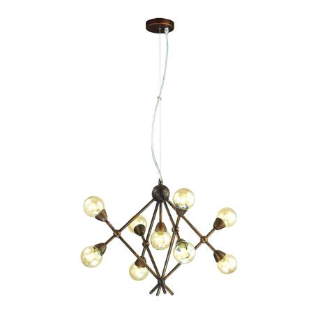 Подвесная люстра Lumion Zianox 3596/9, 9xG9x25W, бронза, янтарь, металл, стекло - миниатюра 1