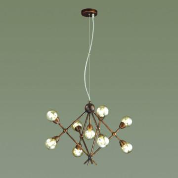 Подвесная люстра Lumion Zianox 3596/9, 9xG9x25W, бронза, янтарь, металл, стекло - миниатюра 3