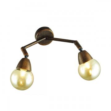 Потолочный светильник с регулировкой направления света Lumion Zianox 3596/2W, 2xG9x25W, бронза, янтарь, металл, стекло