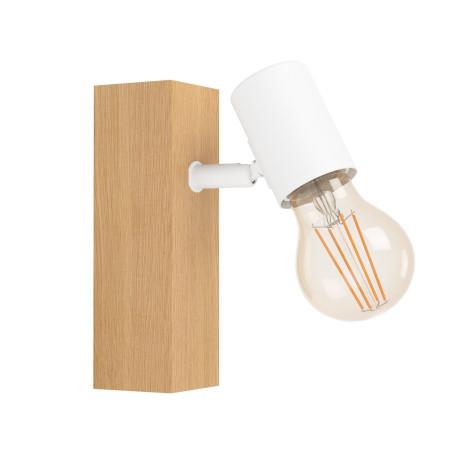 Настенный светильник с регулировкой направления света Eglo Townshend 3 33168, 1xE27x10W, коричневый, дерево